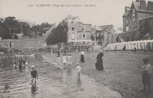 St Servan Plage Des Fours A Chaux Antique French Postcard