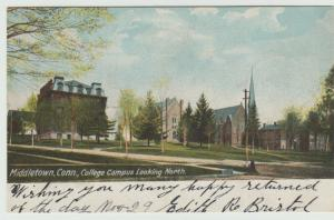 MIDDLETOWN CT COLLEGE LOOKING NORTH 1905