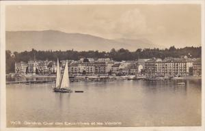 Switzerland Geneve Quai des Eaux-Vives et les Voirons Photo