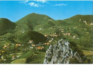 Italy, Colli Euganei, Panorama verso Teolo da Rocca Pendice, unused stamped