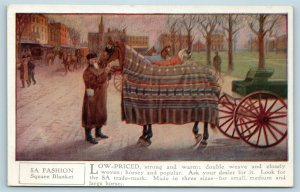 AD Postcard 5A Horse Square Blanket Advertising Postcard c1910 AD8