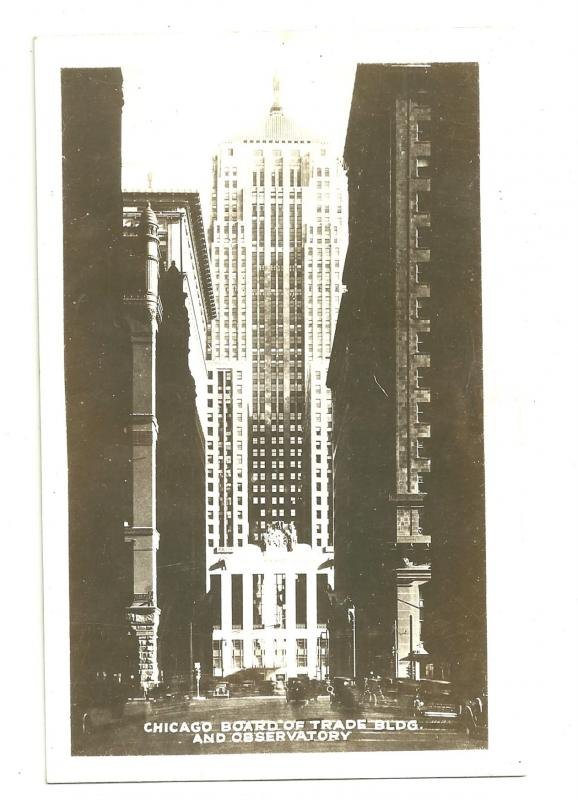 Lot of 3 views of Chicago Board of trade bldg, RPPC