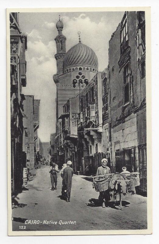 Cairo Egypt Native Quarter Lehnert & Landrock Photographers Vintage Postcard
