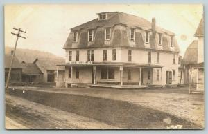 Vermont~Clyde River Hotel~You Tell Me Which~They Are All Haunted! c1910 RPPC