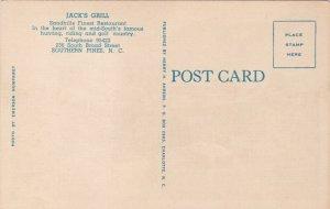 North Carolina Southern Pines Interior Jack's Grill Broad Street sk1542