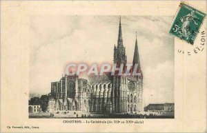 Postcard Old Cathedral of Chartres (the twelfth to sixteenth Century)