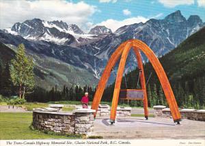 Canada Trans-Canada Highway Memorial Site Glacier National Park British Columbia