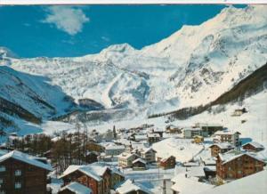 Switzerland Saas-Fee mit Wallis Alphobel und Taeschhorn