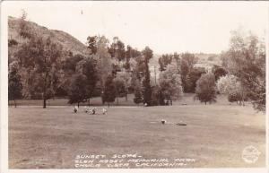 Sunset Slope Glen Abbey Memorial Park Chula Vista California Real Photo