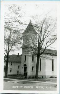 NY - Akron, Baptist Church    *RPPC