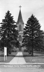 Chisago City Minnesota~Zion Lutheran Church~1940s Real Photo Postcard~RPPC
