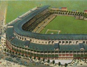 1930s Wrigley Field Chicago Cubs Ball Park Chicago Illinois Birdseye Postcard