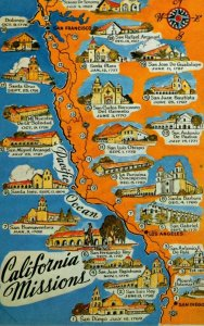 California Map Of The California Missions