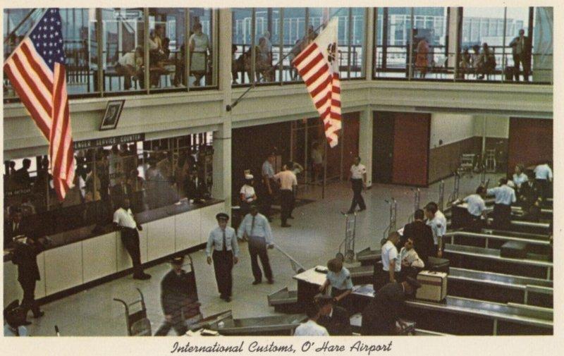 CHICAGO , Illinois , 1950-60s ; International Customs , O'Hare Airport