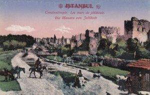 Constantinople (Istanbul) , Turkey , 1900-10s ; Die Mauern von Jedikufe