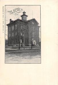 C22/ Crestline Ohio Postcard c1910 High School Building
