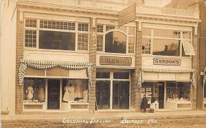 Belfast ME High Colonial Theatre Storefronts Gordon's RPPC Postcard