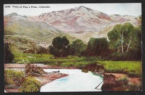 Vista of Pikes Peak Colorado Unused c1910s