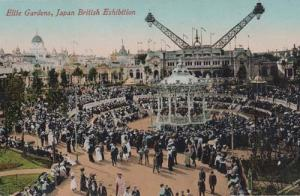 Elite Gardens Japan London British Franco Exhibition Antique Postcard