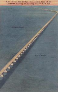Florida Seven Mile Bridge In Florida Keys Curteich