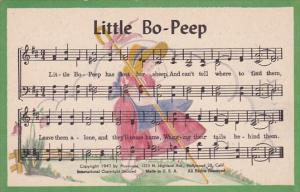 Song Card Little Bo-Peep