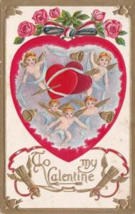 Valentine's Day Cupids and Hearts