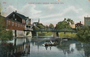 MAYVILLE, Wisconsin, PU-1908 ; Bridge Street Bridge