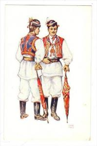 Croatian National Wear, 1926, Young lads from Sestine near Zagreb