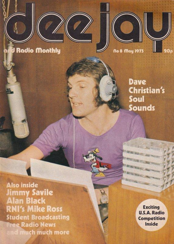 Jimmy Saville Dave Christian Radio 1 DJ 1970s Magazine