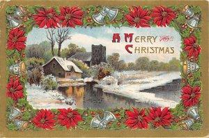 Christmas Post Card Old Xmas Postcard 1910