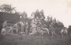 South African Soldier Officers Mess Farm Military Camp Transvaal WW2 Signed R...