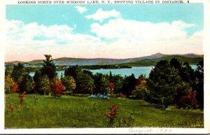 New York Adirondacks Schroon Lake Looking North
