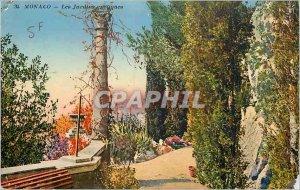 Old Postcard Monaco Exotic Gardens