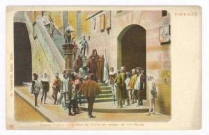 Palazzo Pretorio, La Scala Del Cortile Con Costumi Del XIII Secolo, Firenze, ...