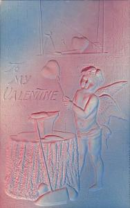 Valentine's Day Cupid Forging Heart 1908