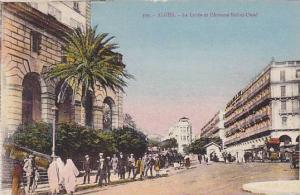 Le Lycee Et l'Avenue Bab-el-Oued, Alger, Algeria, Africa, 1900-1910s