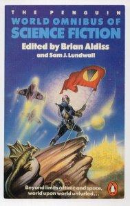 Penguin World Omnibus Of Science Fiction 1986 Book Postcard