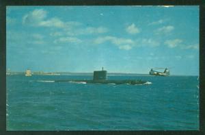 USS Nautilus 1st Nuclear Powered Submarine New London Connecticut Navy Postcard