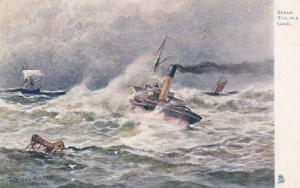 TUCK #6267; Sea Pictures, Steam Tug in a Gale, PU-1907