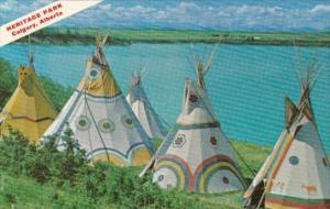 Canada Indian Teepees Heritage Park Calgary Alberta