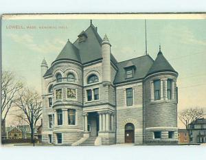 Divided-Back MEMORIAL HALL Lowell Massachusetts MA p1603