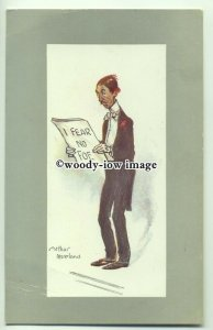 su2753 - Comic Singer - I Fear No Foe - artist Arthur Moreland - postcard