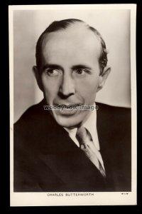 b1627 - Film Actor - Charles Butterworth - Picturegoer No. 927 - postcard