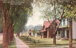 Cheyenne Wyoming~Tree Lined 18th Street Looking West~Nice Victorian Homes~1910