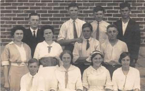 E21/ Columbus Ohio Real Photo RPPC Postcard Raymond's High School Class c1910