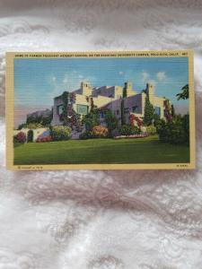 Antique Postcard, Home of Former President Herbert Hoover...