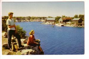 Looking over Harbor, Bruce Peninsula, Ontario, The Book Room
