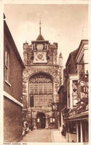 Vintage 1952 Postcard Parish Church, Rye, East Sussex #R