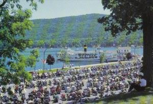 New York Lake George Beach Road Showing Annual Motorcycle Rally