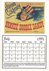 1991 Movie Poster Calendar Series July Yankee Doodle Dandy